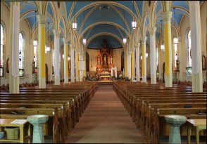 The inside of St. Mary's before the fire. (Photo from parish's Facebook page)