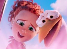 "Animated characters Tulip (voiced by Katie Crown) and Junior (voiced by Andy Samberg) appear in the movie ""Storks."" The Catholic News Service classification is A-II -- adults and adolescents. The Motion Picture Association of America rating is PG -- parental guidance suggested. Some material may not be suitable for children. (CNS photo/Warner Brothers)"