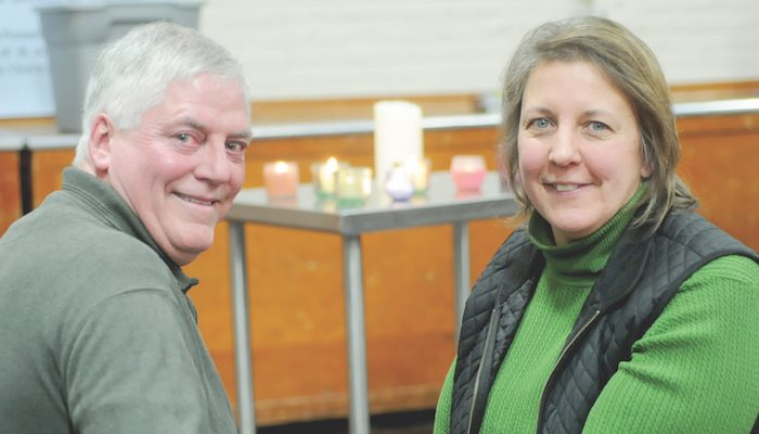 Tim and Mary Boerger talked about their daughter's suicide during a program Jan. 8 at St. Anthony Church in St. Cloud on depression and suicide. (Dianne Towalski/The Visitor)