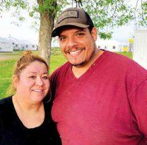 Juan y Veronica Hernández viajan de Texas a Brooten cada año para trabajar durante la temporada de crecimiento.